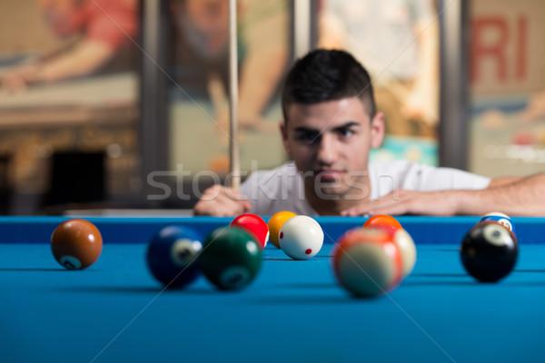 Portré fiatalember koncentráció labda férfi sport Stock fotó © Jasminko