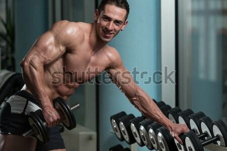 Hombre proteína Shake agua Foto stock © Jasminko