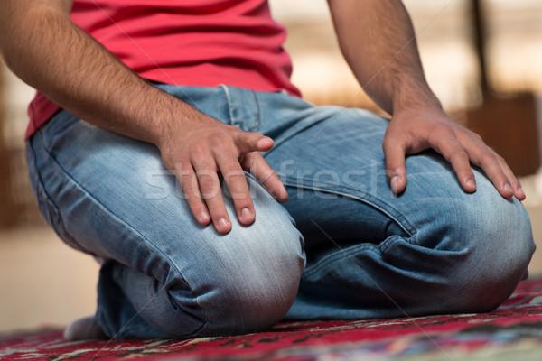 Erkek eller dua eden cami Müslüman Stok fotoğraf © Jasminko