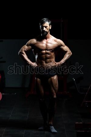 Droom lichaam zwarte jonge bodybuilder spieren Stockfoto © Jasminko