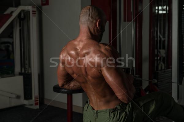 Gezonde volwassen man oefening Maakt een reservekopie volwassen mannelijke Stockfoto © Jasminko