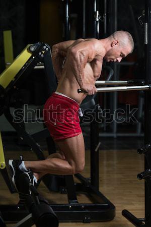 Elvesz törik edz férfiak gondolkodik remény Stock fotó © Jasminko