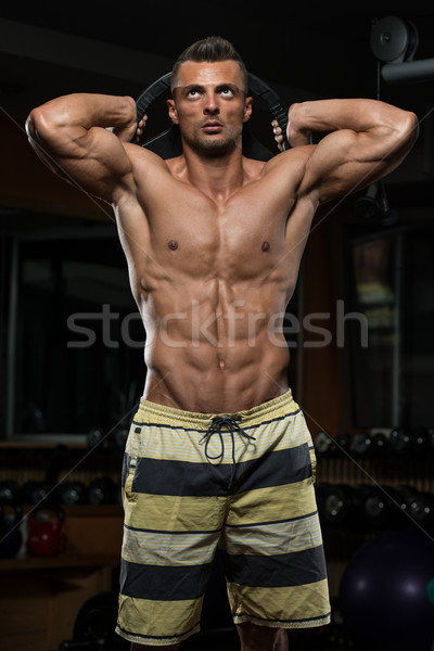 трицепс тренировки веса молодые спортсмена осуществлять Сток-фото © Jasminko