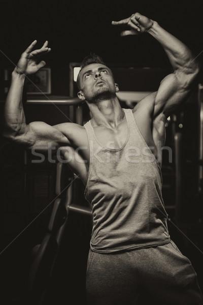 Bodybuilding niet race marathon portret geschikt Stockfoto © Jasminko
