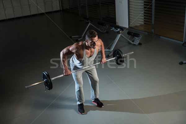 Bent Over Row Workout For Back Stock photo © Jasminko
