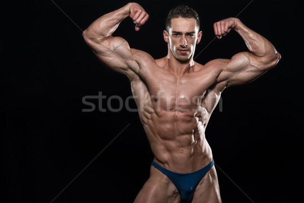 Portret kulturysta czarny młodych mięśni Zdjęcia stock © Jasminko