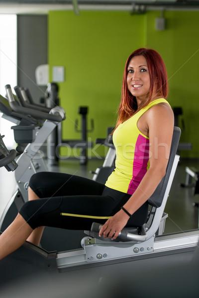 Bicicleta ciclismo ginásio fitness exercer Foto stock © Jasminko