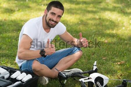 Man Resting And Relaxing Nature Stock photo © Jasminko