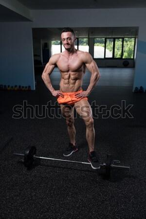 深刻 男性 立って 筋肉 小さな ボディービルダー ストックフォト © Jasminko