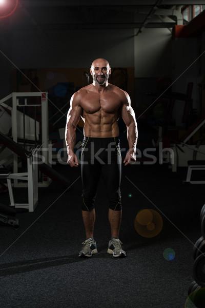 Portré fitt érett férfi egészséges klub drámai Stock fotó © Jasminko