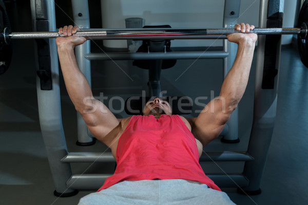 Férfi edz tornaterem sport test mellkas Stock fotó © Jasminko