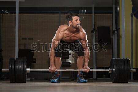 Erős izmos férfiak térdel padló ahogy Stock fotó © Jasminko
