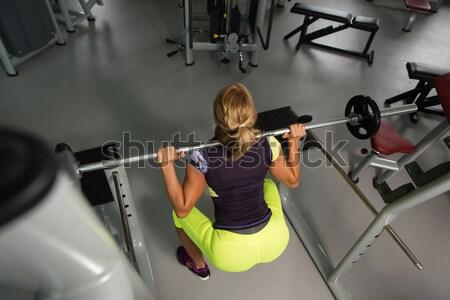 Stockfoto: Bank · druk · training · lichaam · mannen · borst