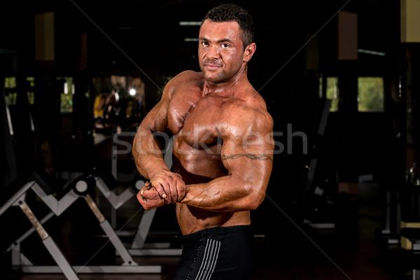 Muscular musculação lado peito homem Foto stock © Jasminko