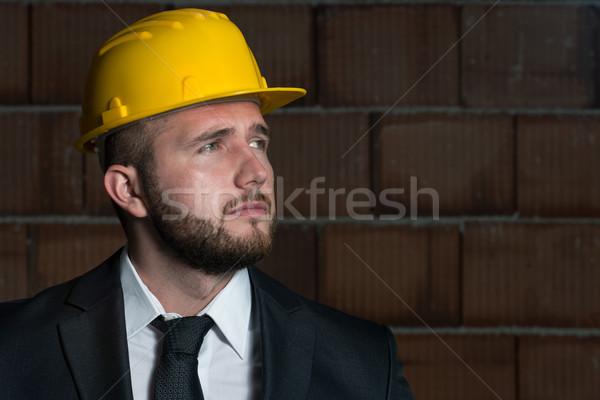 Jonge bouwvakker portret bouw manager Stockfoto © Jasminko