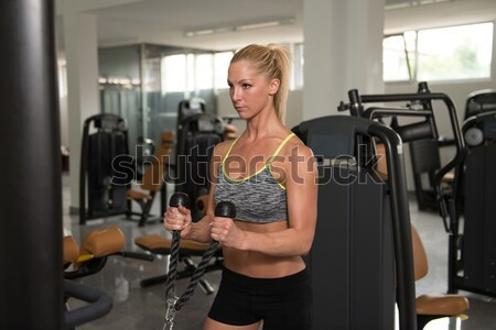 Woman Doing Leg Exercise Stock photo © Jasminko