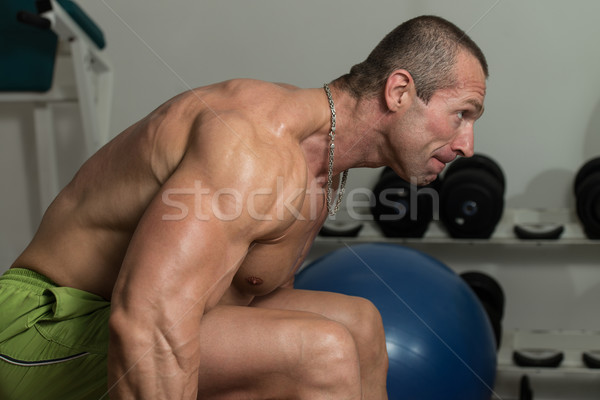 Healthy Man Doing Exercise For Back Stock photo © Jasminko