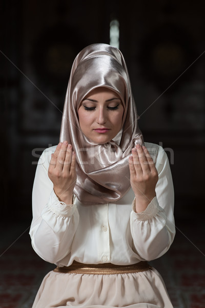 Muslim Woman Is Praying In The Mosque Stock photo © Jasminko