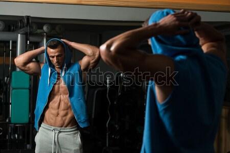 Bodybuilding esercizio nutrizione migliore ritratto montare Foto d'archivio © Jasminko