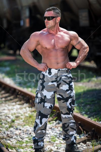 Beteg hát férfi férfiak portré izom Stock fotó © Jasminko
