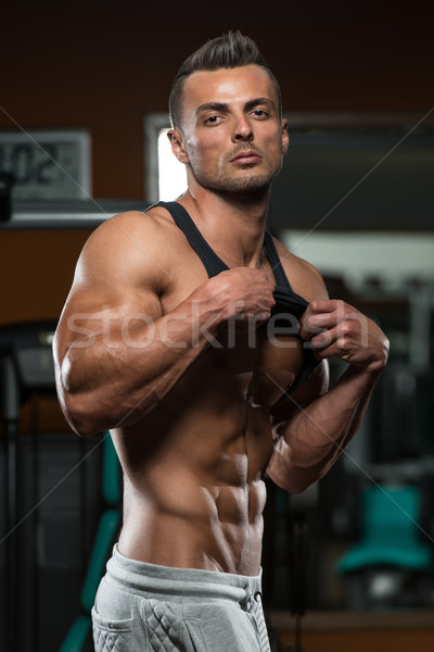 Bodybuilding exercice nutrition meilleur portrait s'adapter Photo stock © Jasminko