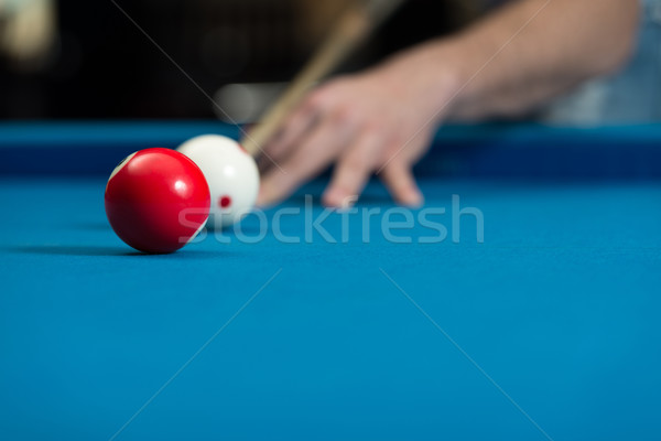 Close-Up Of A White Ball Waiting To Shoot Stock photo © Jasminko