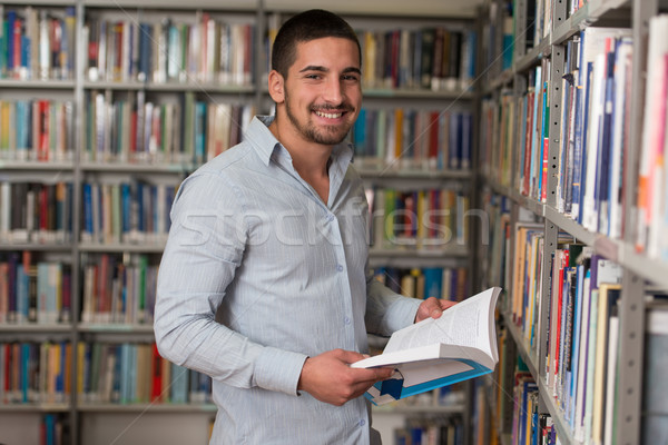 Masculino biblioteca retrato caucasiano homem Foto stock © Jasminko