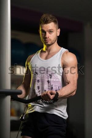 Homem ginásio corpo retrato Foto stock © Jasminko