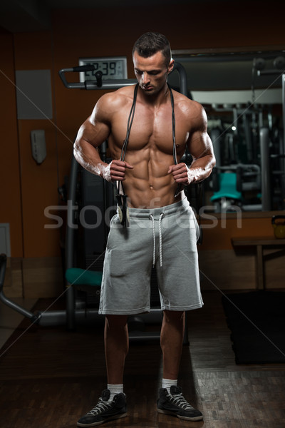 Cardio temps élégant musculaire homme sautant Photo stock © Jasminko