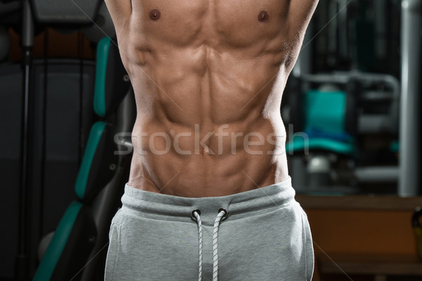 Abdominal Muscle Close Up Shredded To The Bone Stock photo © Jasminko