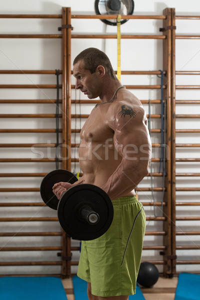 Bodybuilder Working Out Biceps Stock photo © Jasminko