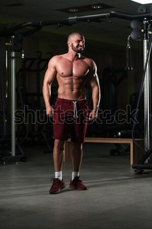 Portret volwassen man geschikt volwassen mannelijke sport Stockfoto © Jasminko