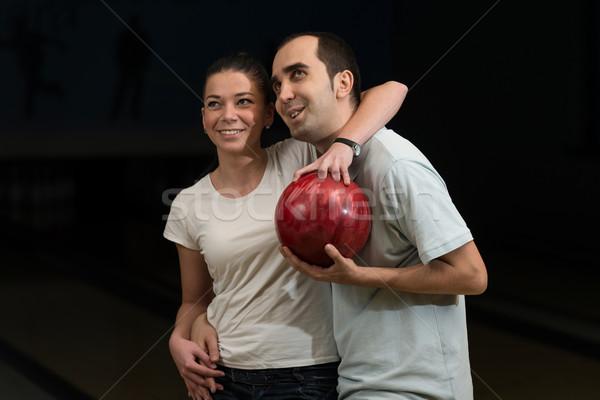 Coppia bowling divertimento femminile maschio bella Foto d'archivio © Jasminko