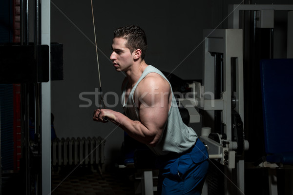 Młody człowiek triceps zdrowych klub młodych Zdjęcia stock © Jasminko