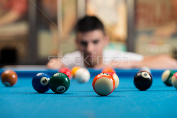 Young Man Concentration On Ball Stock photo © Jasminko