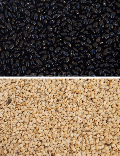 семян черный бобов Top кунжут нижний Сток-фото © javiercorrea15