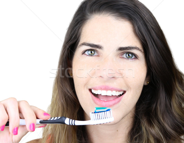 She's all about dental hygiene Stock photo © javiercorrea15