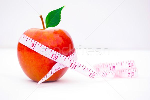 Apfel Maßband gesunde Ernährung Gefühl groß mehr Stock foto © javiercorrea15
