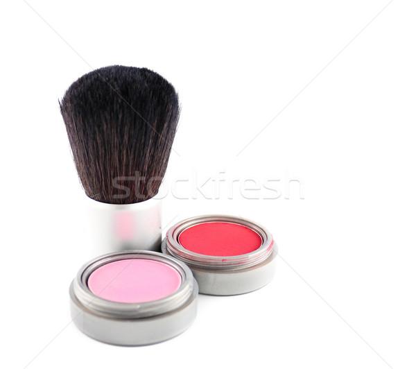 Stockfoto: Cosmetica · borstel · twee · verschillend · kleuren