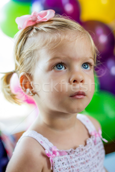 Little girl at a party Stock photo © javiercorrea15