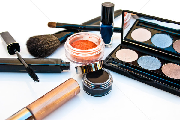 Cosméticos compensar escove mulher beleza batom Foto stock © javiercorrea15