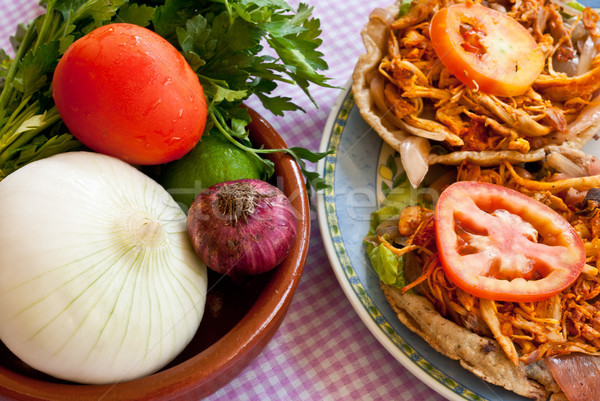 Mexican Food: Salbute Stock photo © javiercorrea15