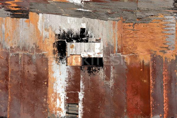 Peeling paint on rusted metal surface Stock photo © javiercorrea15