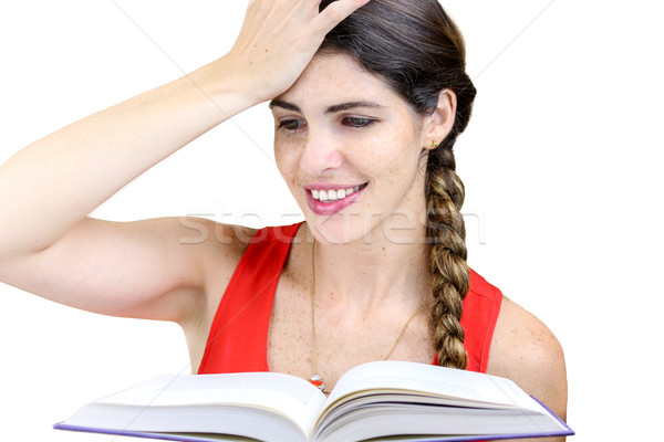 Responder tiro sonriendo lectura Foto stock © javiercorrea15