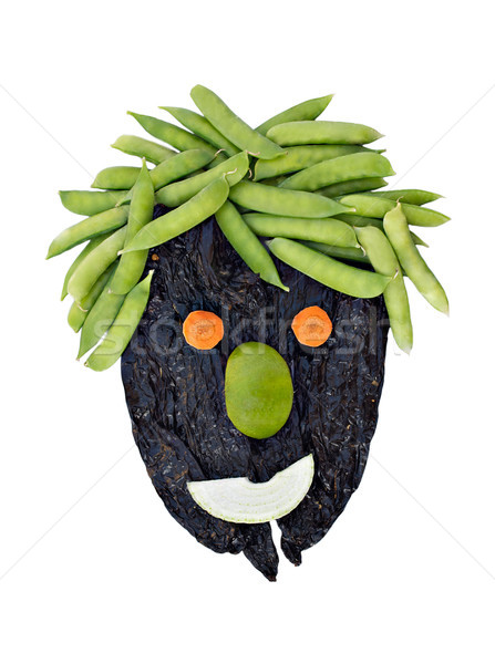 Healthy Face made with vegetables Stock photo © javiercorrea15