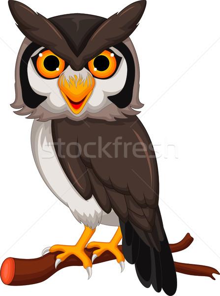 Cute owl cartoon posing Stock photo © jawa123
