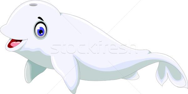 cute dolphin cartoon smiling Stock photo © jawa123