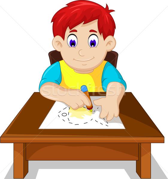 Cute nino nino Cartoon dibujo peces Foto stock © jawa123