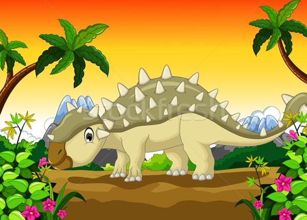 Dinoszaurusz rajz terv természet idő fiatal Stock fotó © jawa123