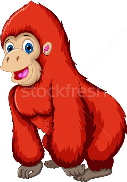 cute gorilla cartoon Stock photo © jawa123